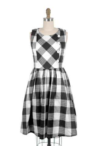 Gingham Dress in Black