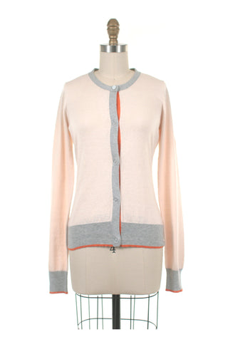 Colorblock Cardigan in Cream