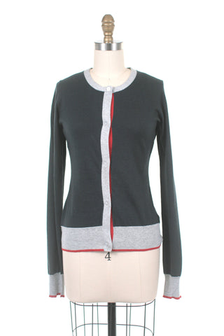 Colorblock Cardigan in Navy