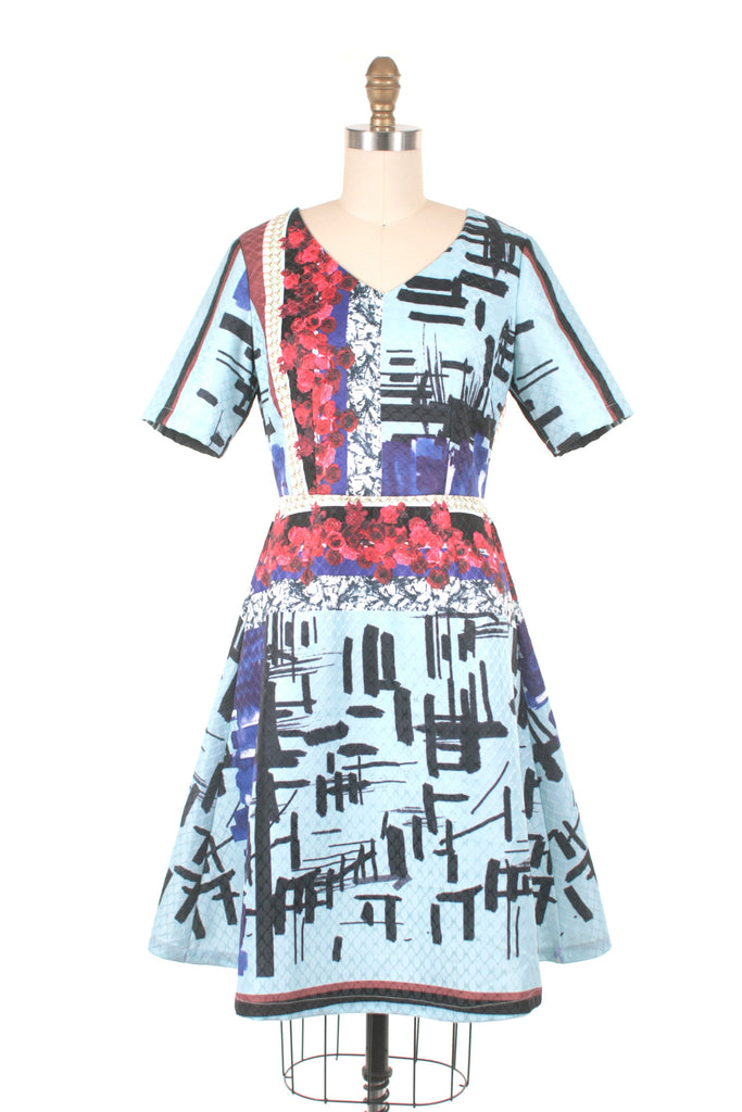 Metro Dress in Blue Multi