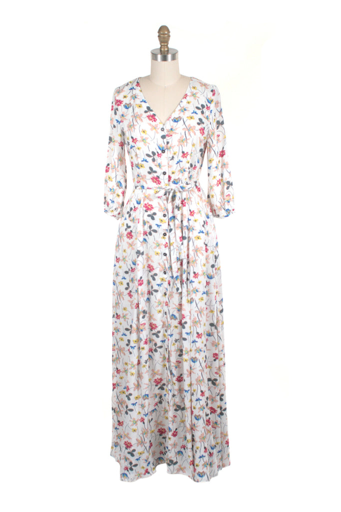 Ivy Maxi Dress in Ivory - last one!