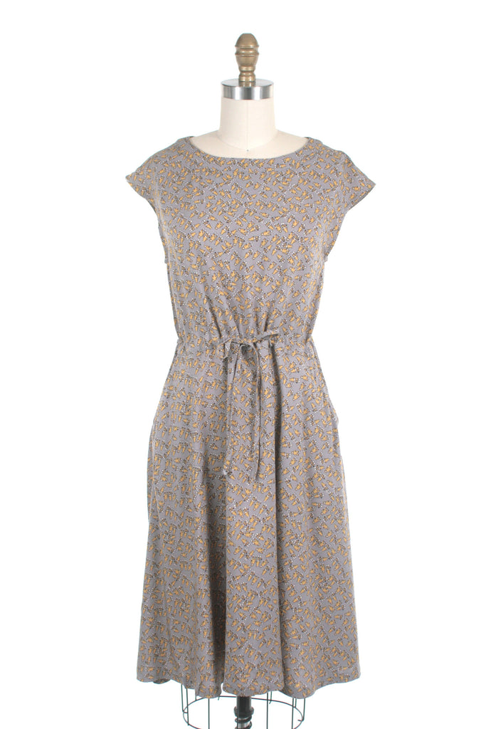 Sock Monkey Dress in Taupe