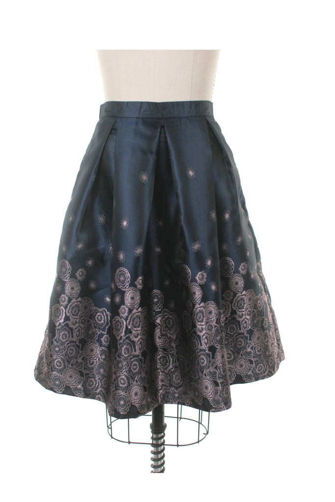 Leah Jacquard Skirt in Navy