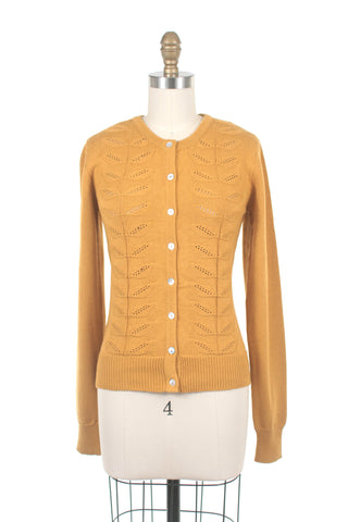 Leaf Cardigan in Mustard