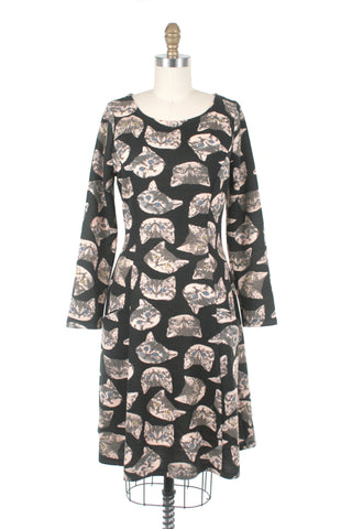 Wild Cat Dress in Black