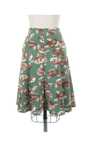 Wild Cat Skirt in Green