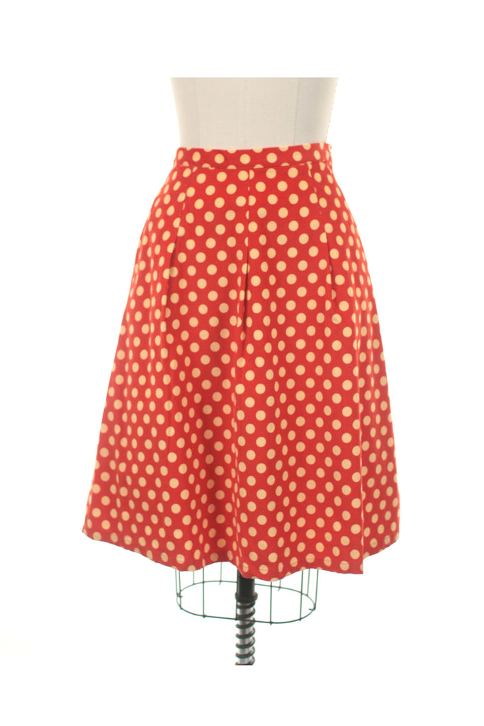 Cord Dot Skirt in Orange