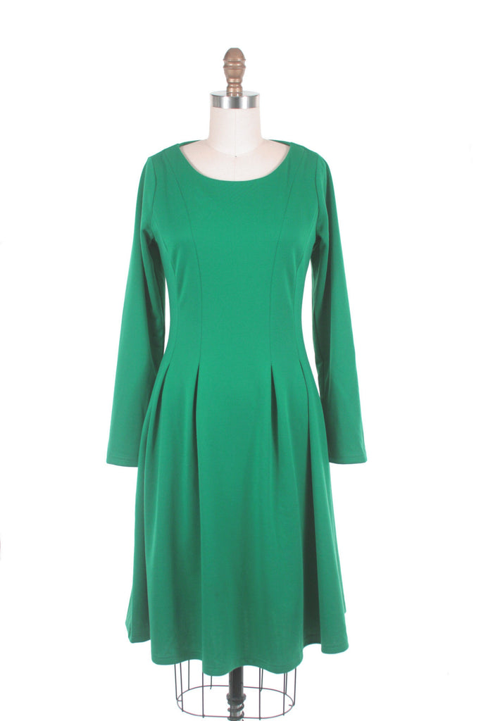 Craft Jersey Dress in Green