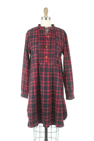 Cabin Plaid Dress in Red