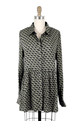 Owl Blouse in Black - last one XS!