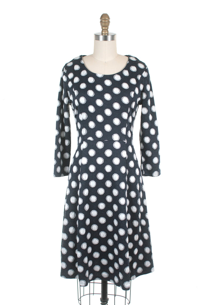 Dot Knit Dress in Navy