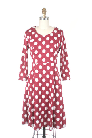 Dot Knit Dress in Red
