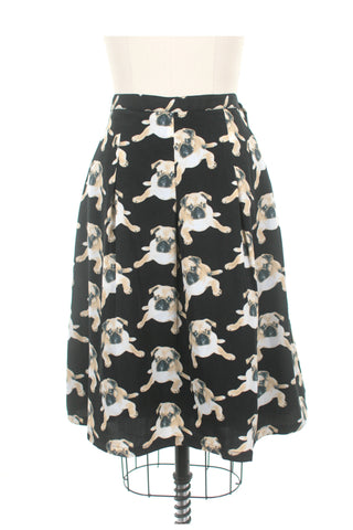 Pug Dog Skirt in Black
