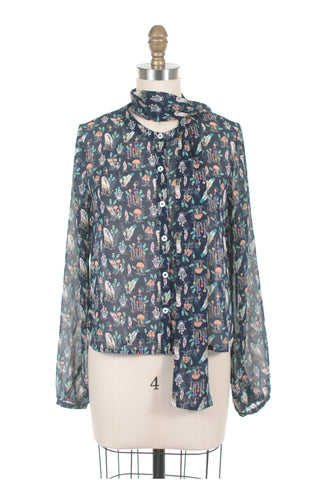 Magic Mushroom Blouse in Blue