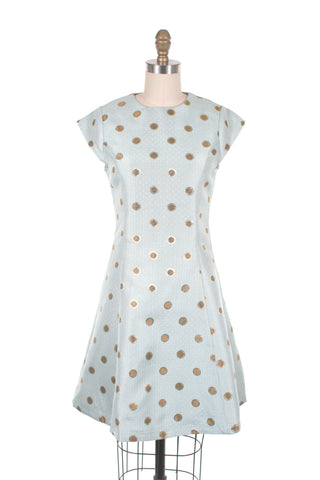 Party Dots Dress in Seafoam