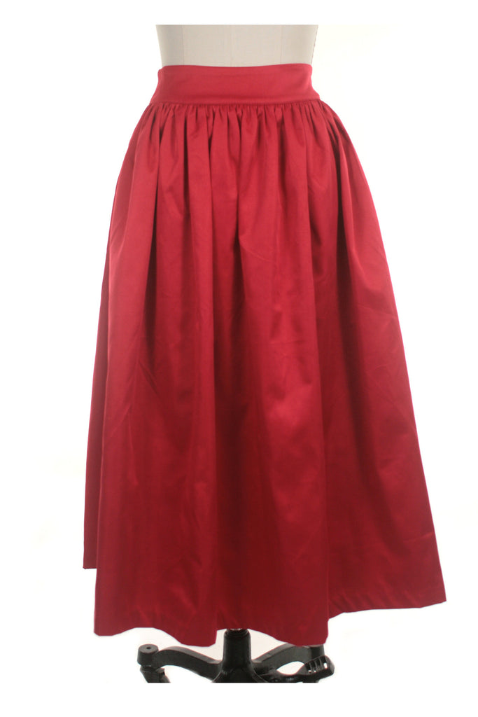 frock shop red midi gather skirt frockshop