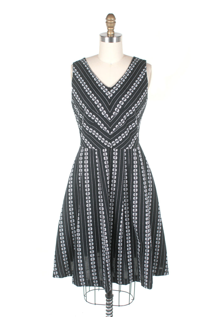 Rainier Eyelet Dress in Black