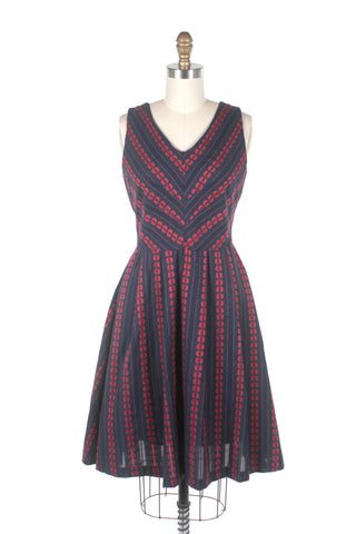 Rainier Eyelet Dress in Navy
