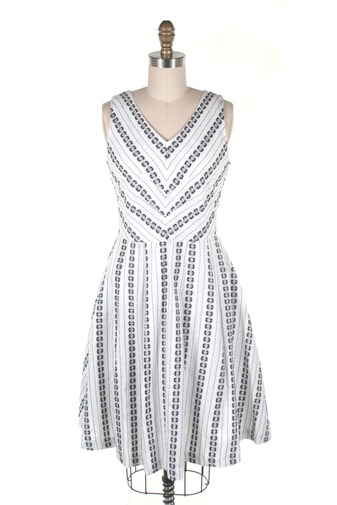 Rainier Eyelet Dress in White
