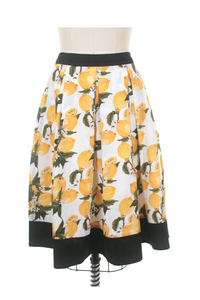 frock shop lemon skirt white frockshop