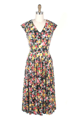Rose Heart Dress in Navy
