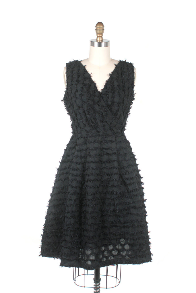 Eyelash Dress in Black