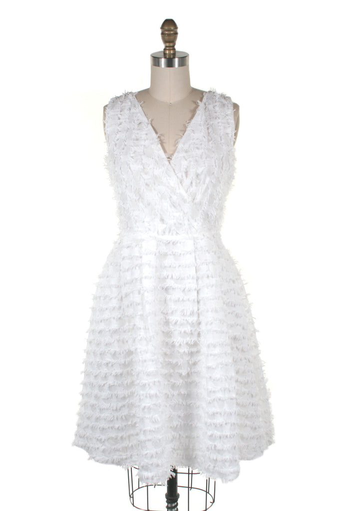 Eyelash Dress in White