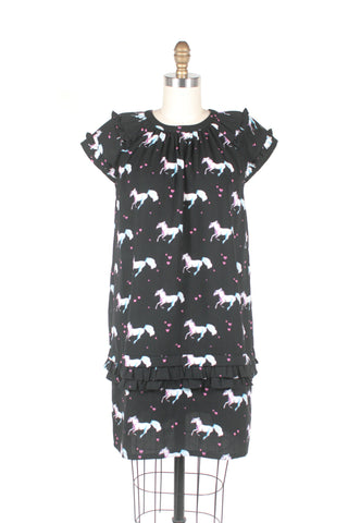 Unicorn Dress in Black and PLUS SIZE