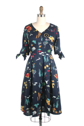 Southwest Dress in Navy and PLUS SIZE