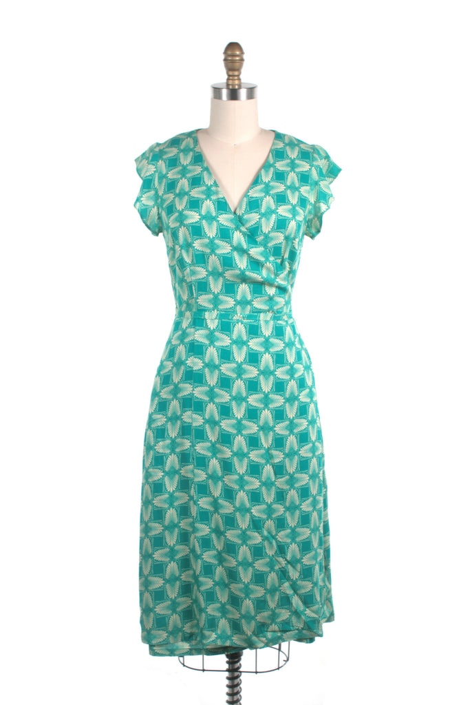 Jessica Wrap Dress in Teal