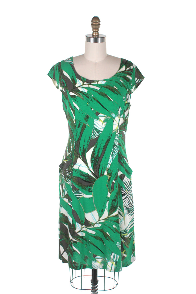 Leaf Pocket Dress in Green - last size S!