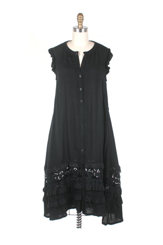 Voile Lace Dress in Black