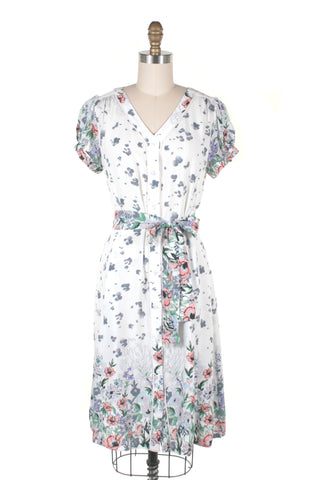 Josie Floral Dress in White