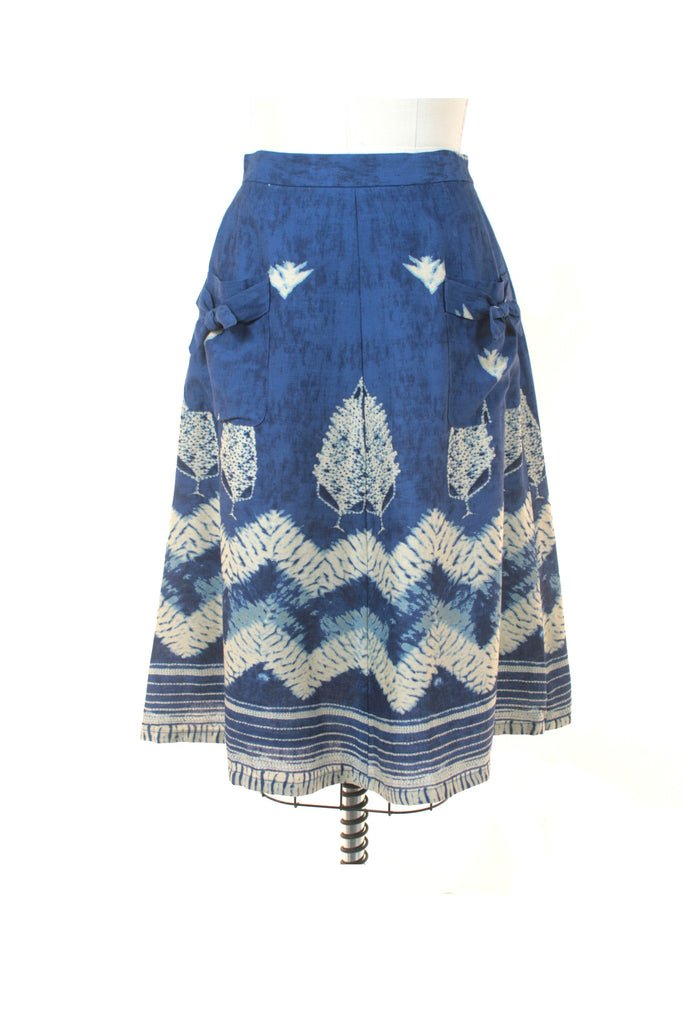 Batik Bow Skirt in Blue - last size S!