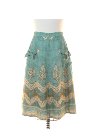 Batik Bow Skirt in Green