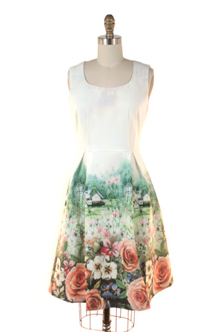 Landscape Rose Dress in Multi - last size S!