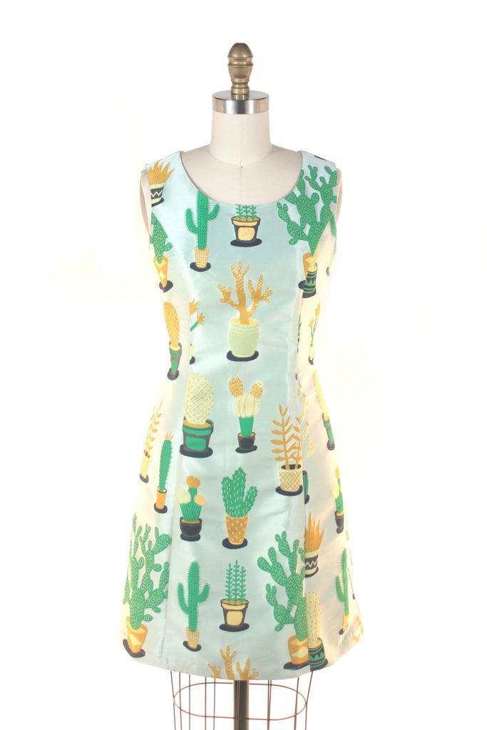 Cactus Shift Dress in Light Green
