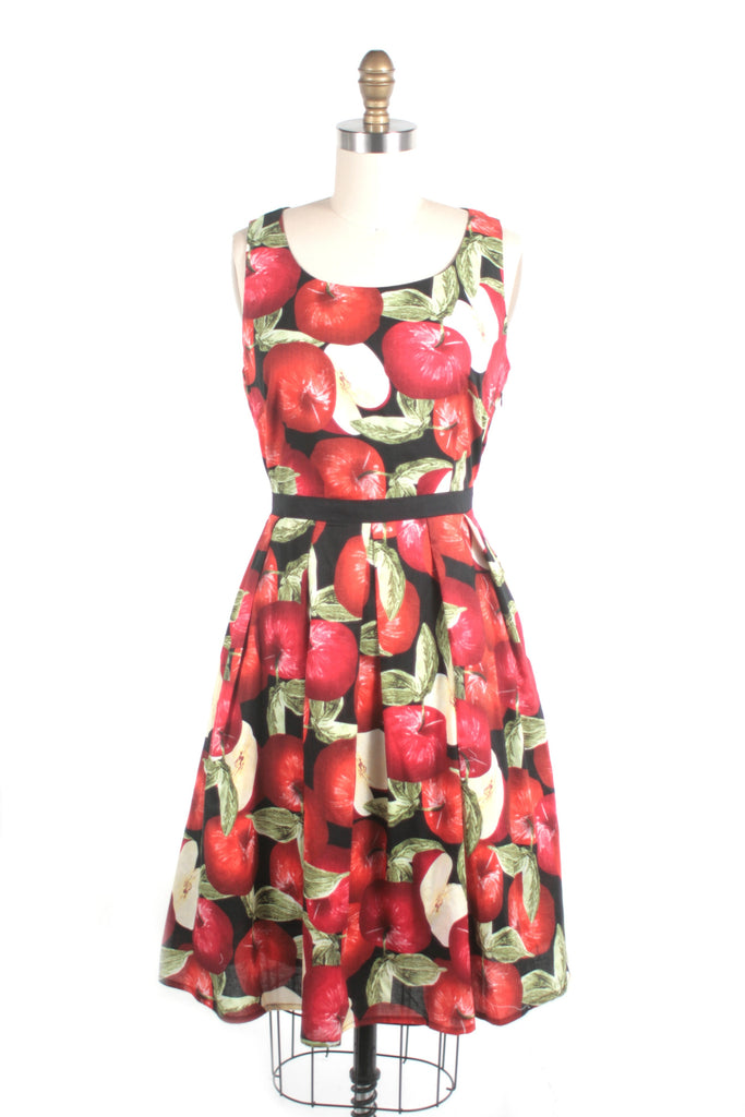 Apple Dress in Black/Red