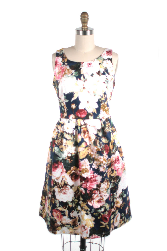 443b64a50c0 Antique Rose Dress in Navy - last size S!