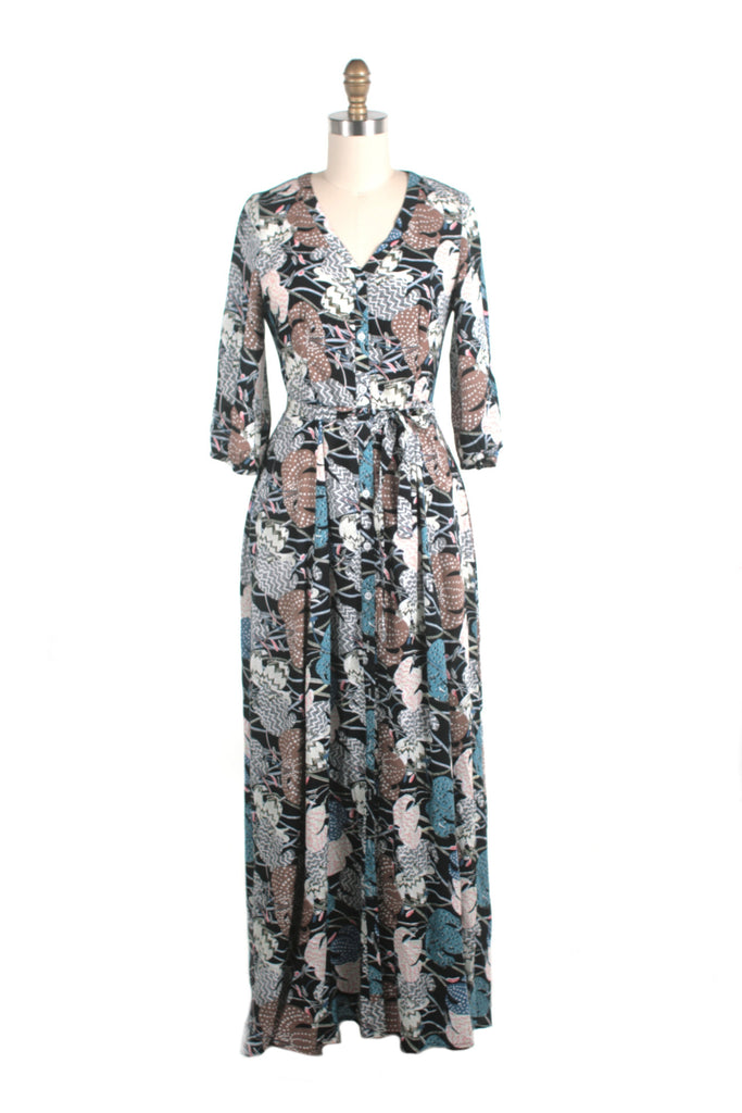 Ellie Maxi Dress in Blue Multi