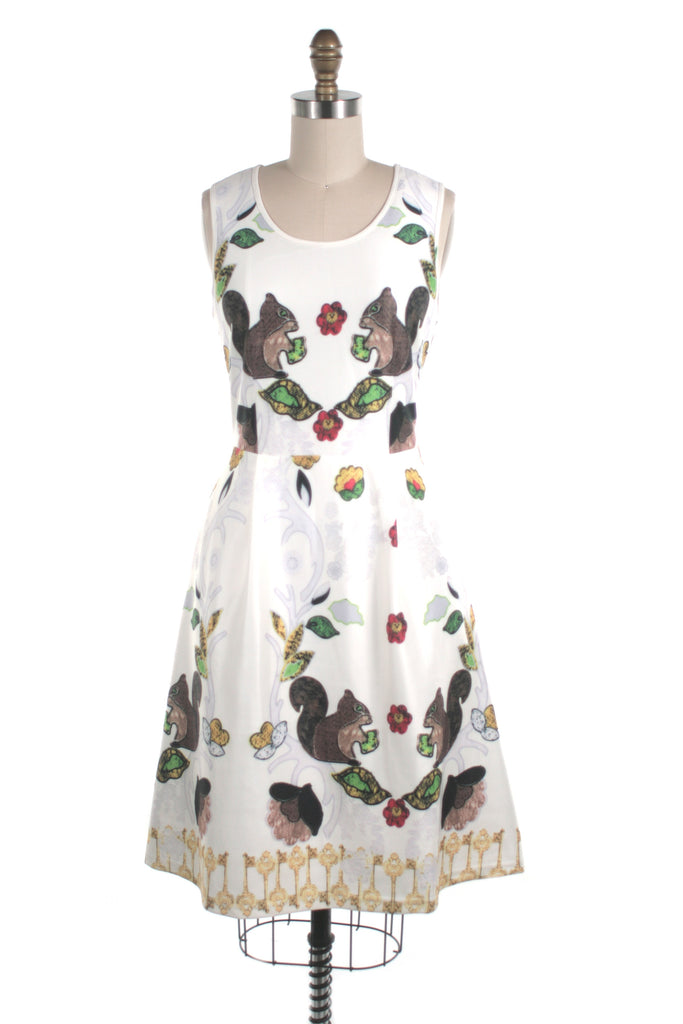 Squirrel Dress in Ivory - last size S!