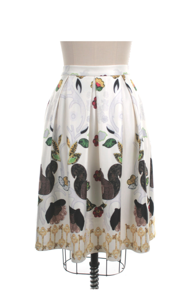 Squirrel Skirt in Ivory - last size S!