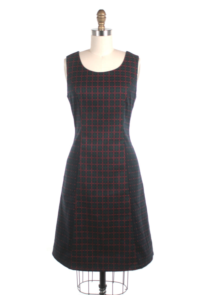 frock shop check dot shift dress frockshop