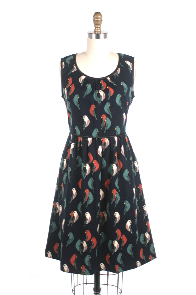 Parrot Dress in Navy - last size XS!