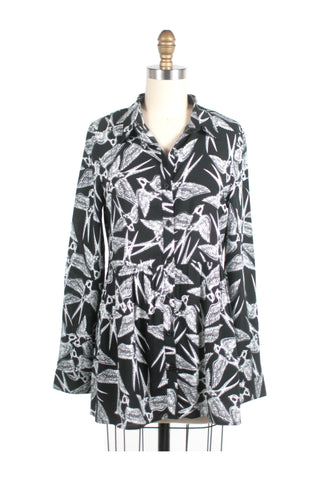 Bird Blouse in Black