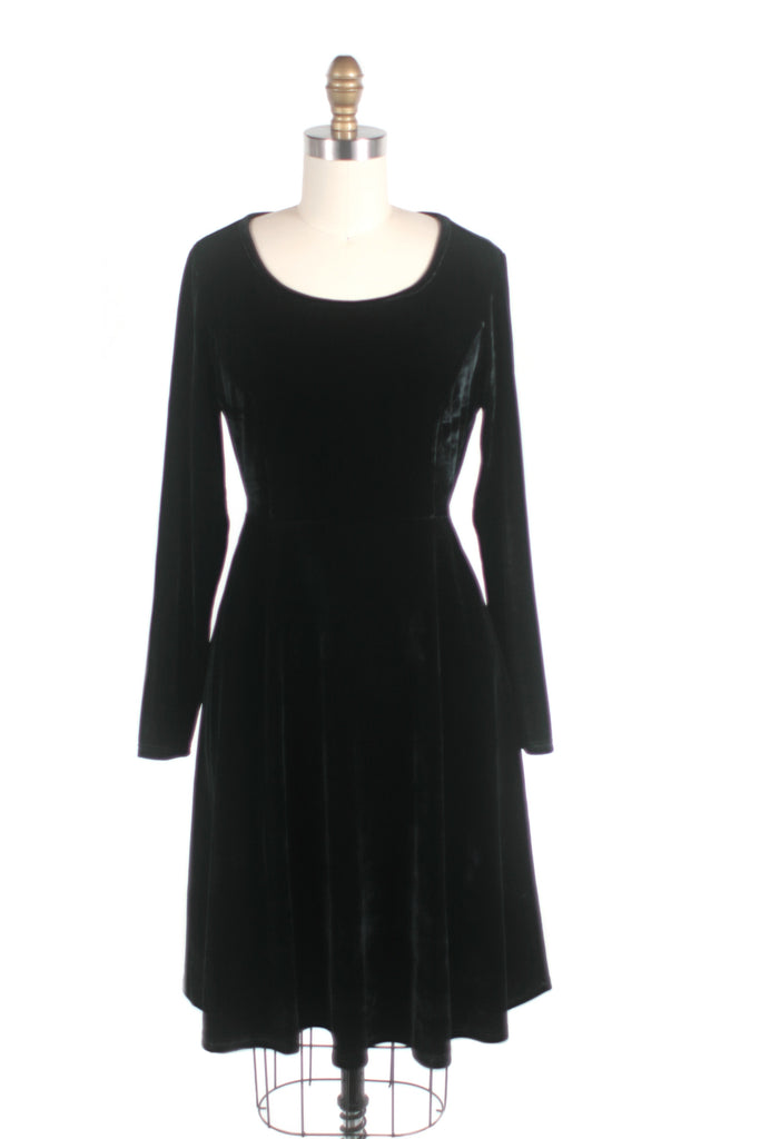 frock shop black velvet dress frockshop
