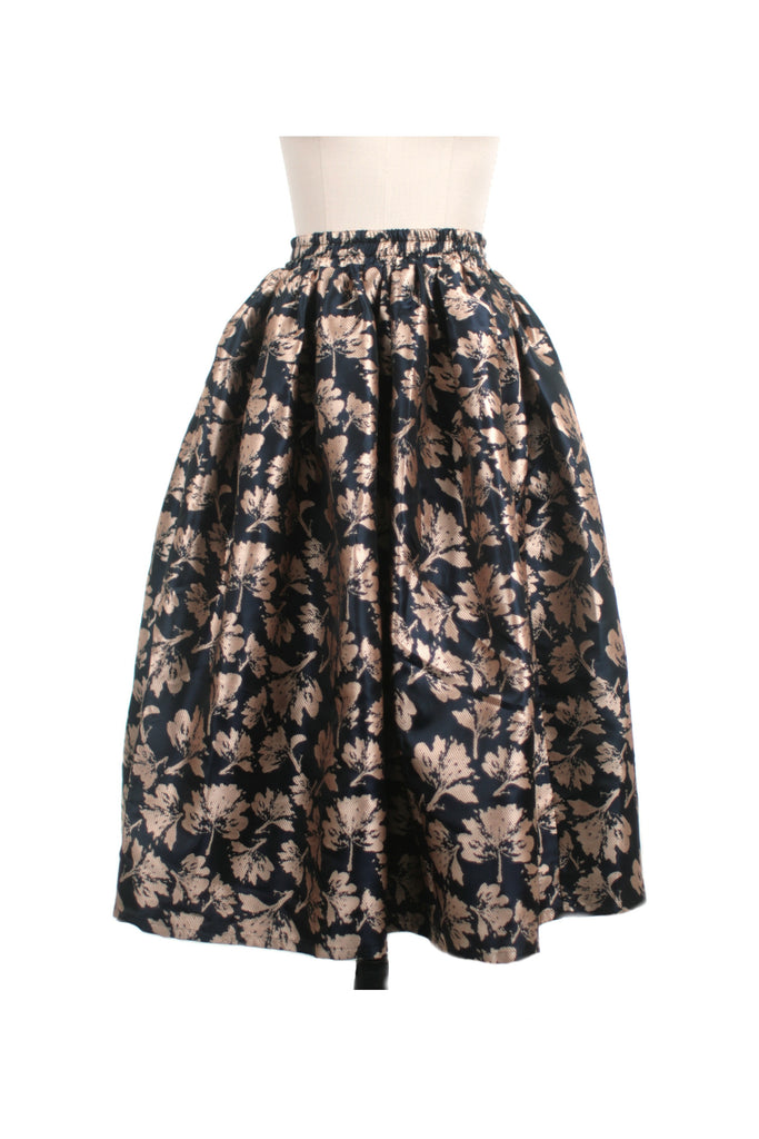 frock shop petal jacquard full skirt navy frockshop