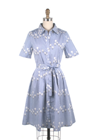 frock shop lightbulb stripe shirtdress blue dress frockshop
