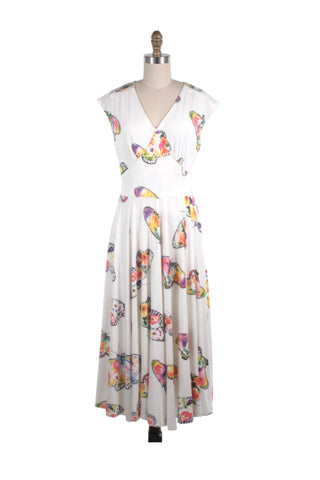 frock shop butterfly white jersey dress frockshop