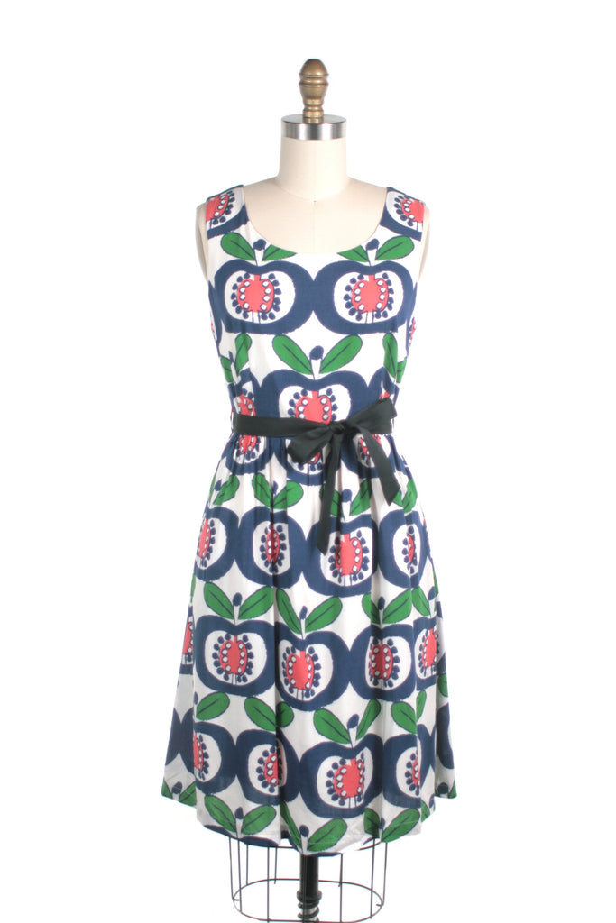 Mod Apple Dress in Blue/Red